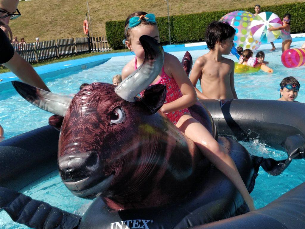 Toro hinchable para piscina